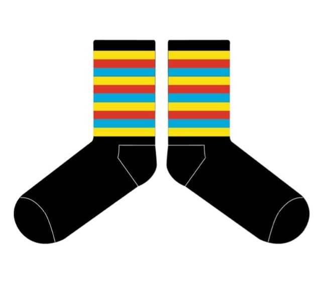 Club socks are ready for collection.