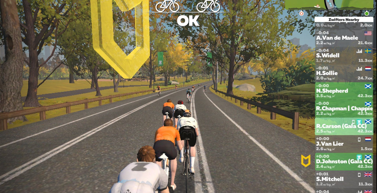 Thursday Night Zwift Meet-ups